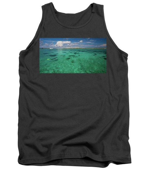 Person Swimming In Clear Turquoise Tank Top