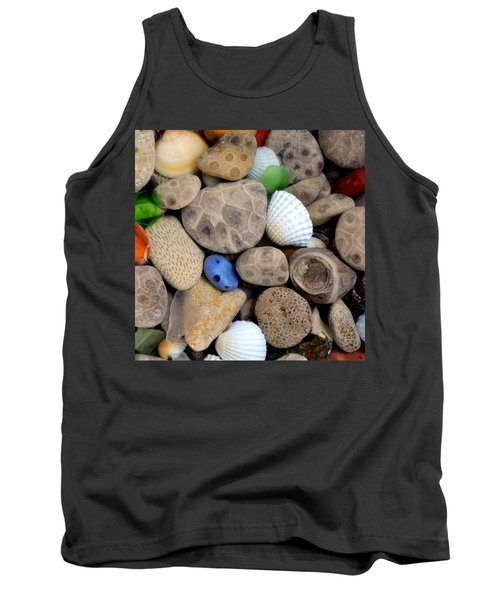 Petoskey Stones V Tank Top by Michelle Calkins