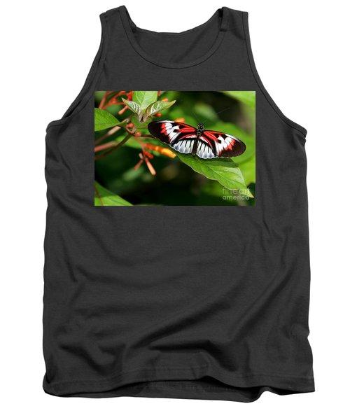 Piano Key Butterfly On Fire Bush Tank Top