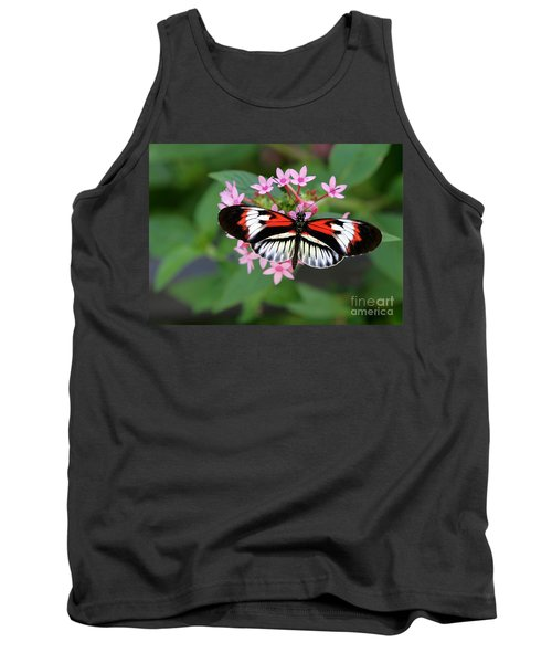 Piano Key Butterfly On Pink Penta Tank Top