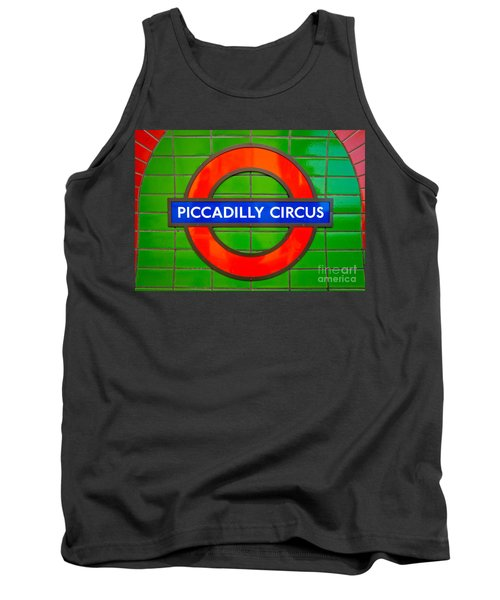 Tank Top featuring the photograph Piccadilly Circus Tube Station by Luciano Mortula