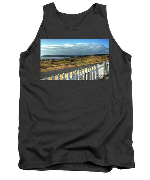 Tank Top featuring the photograph Picket Fence - Chambers Bay Golf Course by Chris Anderson