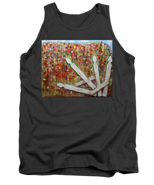 Picket Fence Flower Garden Tank Top
