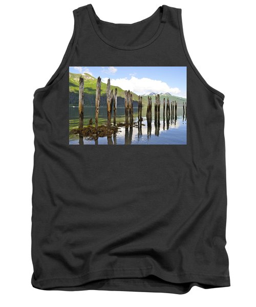 Tank Top featuring the photograph Pilings by Cathy Mahnke