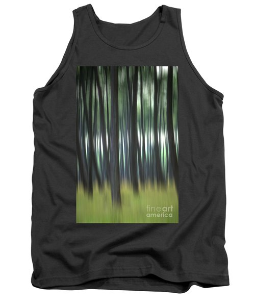 Pine Forest. Blurred Tank Top