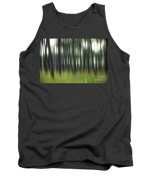 Pine Forest.blurred Tank Top