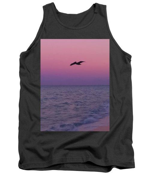 Pink Beach Sunset Tank Top