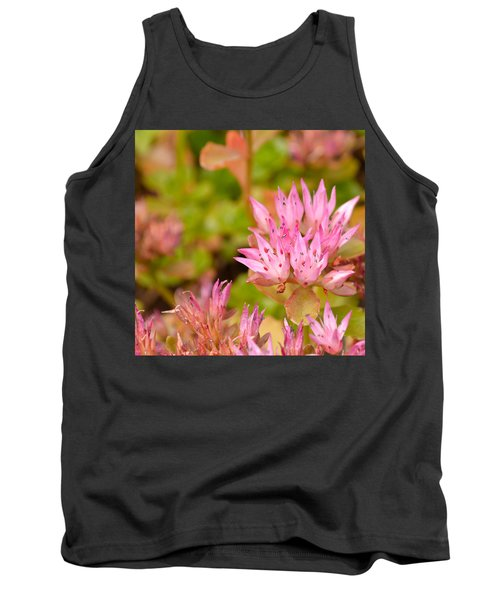 Pink Flower Tank Top by Tine Nordbred