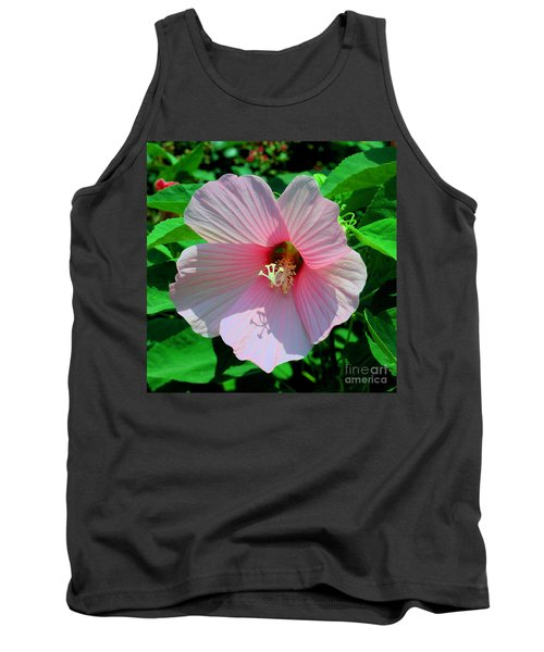 Pink Hibiscus Tank Top by Luther Fine Art
