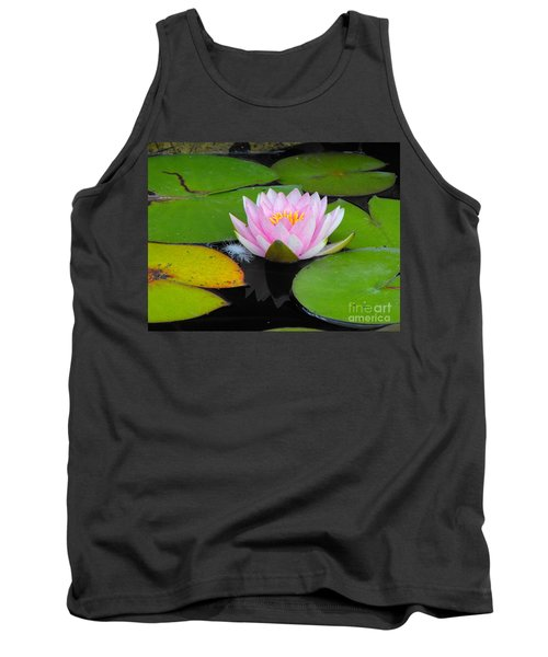 Pink Lilly Flower Tank Top