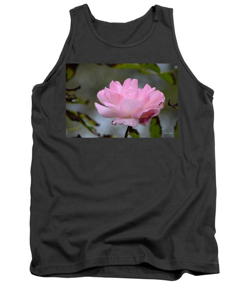 Tank Top featuring the photograph The Last Rose by Debra Martz