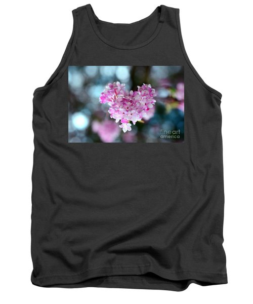 Pink Spring Heart Tank Top by Sabine Jacobs