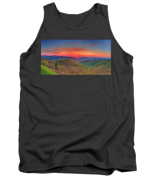 Pink Sunrise At Skyline Drive Tank Top