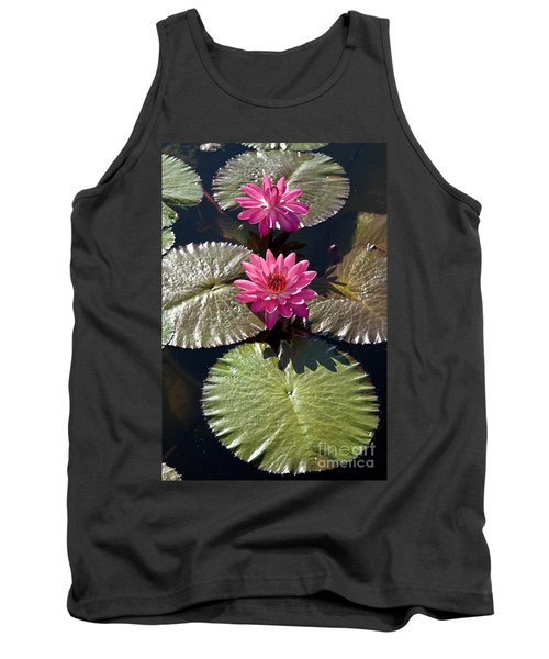 Tank Top featuring the photograph Pink Water Lily IIi by Heiko Koehrer-Wagner