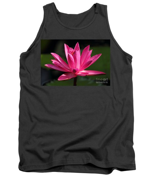 Pink Water Lily Tank Top by Meg Rousher