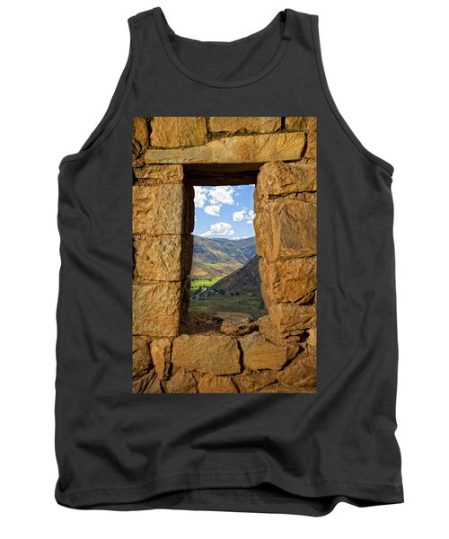 Pisac Ruins Tank Top by Alexey Stiop