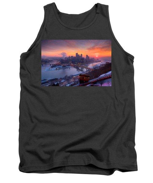 Pittsburgh Skyline Winter 2 Tank Top