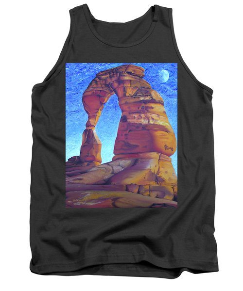 Tank Top featuring the painting Place Of Power by Joshua Morton