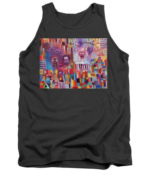 Tank Top featuring the painting Playground Of The Undead by Jason Williamson