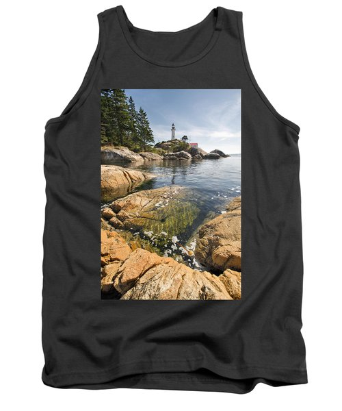 Tank Top featuring the photograph Point Atkinson Lighthouse In Vancouver Bc Vertical by JPLDesigns