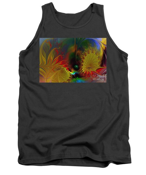 Point Of No Return-abstract Fractal Art Tank Top
