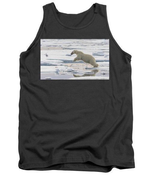 Polar Bear Jumping  Tank Top