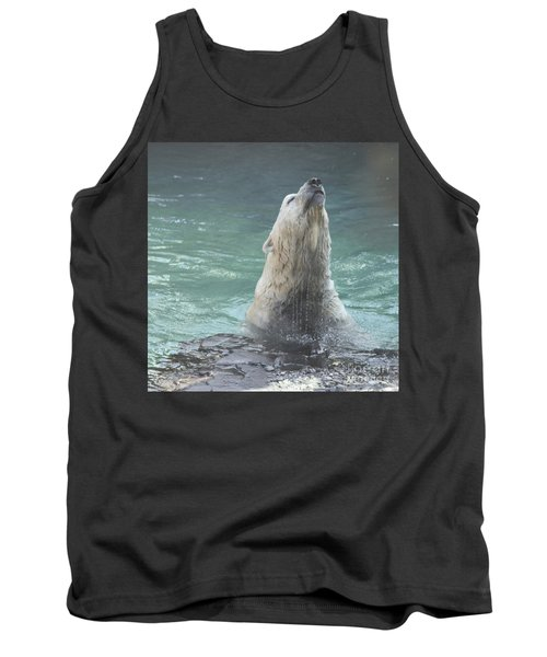 Polar Bear Jumping Out Of The Water Tank Top