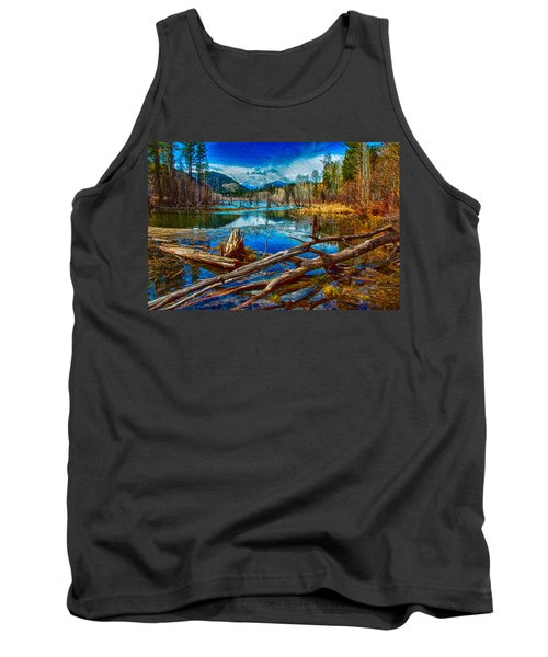 Pondering A Mountain Tank Top