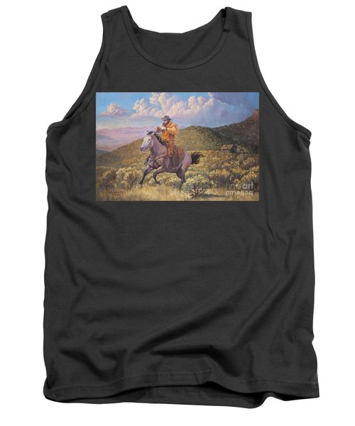 Pony Express Rider At Look Out Pass Tank Top