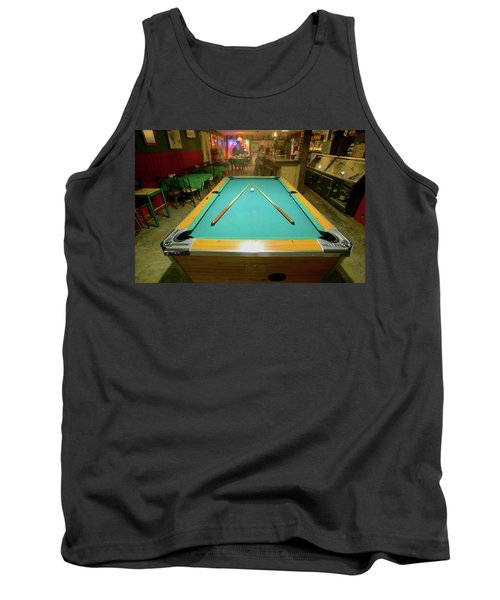 Pool Table Lit By Electric Lights Tank Top