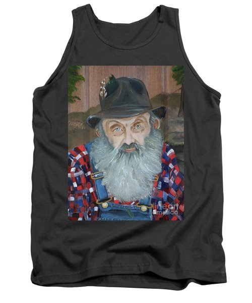 Popcorn Sutton - Moonshiner - Portrait Tank Top