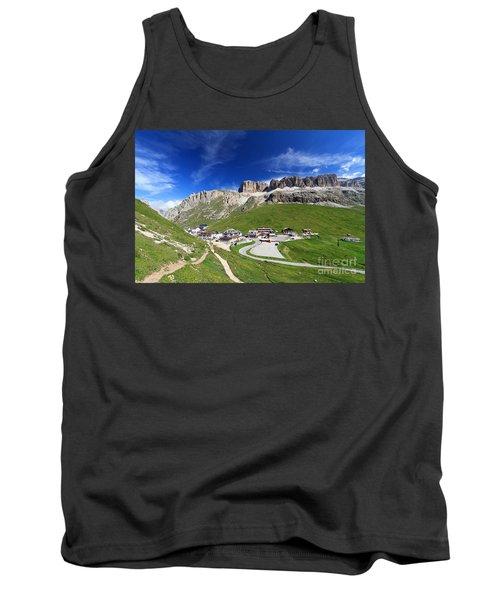 Pordoi Pass And Mountain Tank Top by Antonio Scarpi