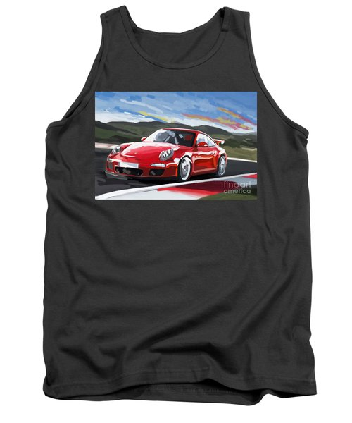 Porsche 911 Gt3 Impressionist Tank Top by Tim Gilliland