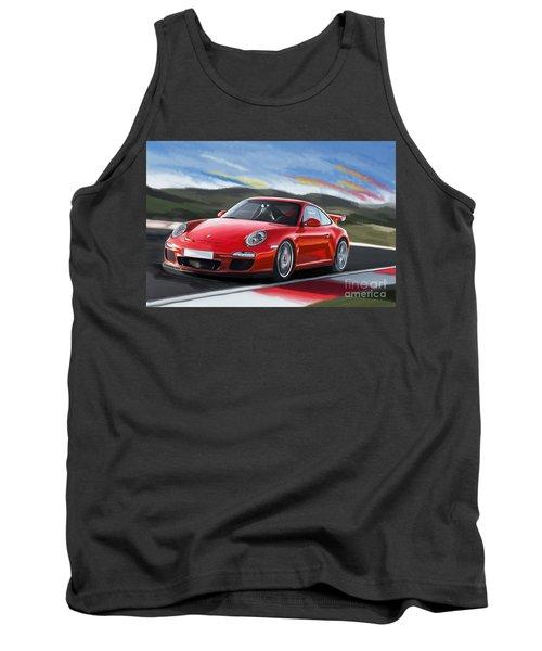 Porsche 911 Gt3 Tank Top by Tim Gilliland