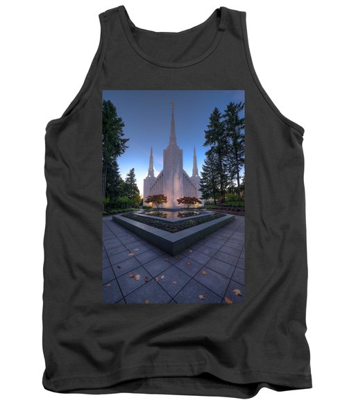 Tank Top featuring the photograph Portland Temple by Dustin  LeFevre