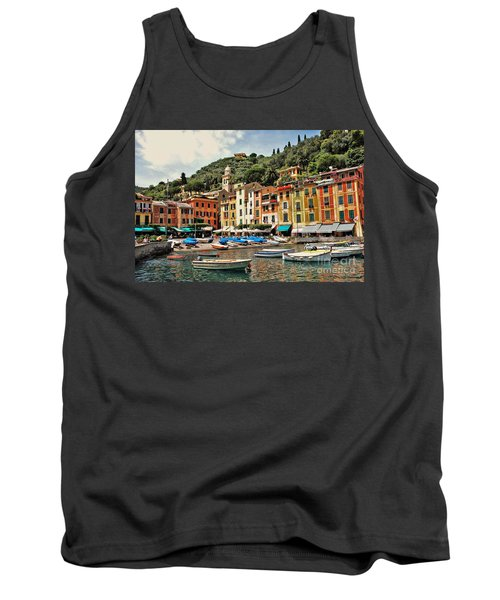Tank Top featuring the photograph Portofino Harbor 2 by Allen Beatty