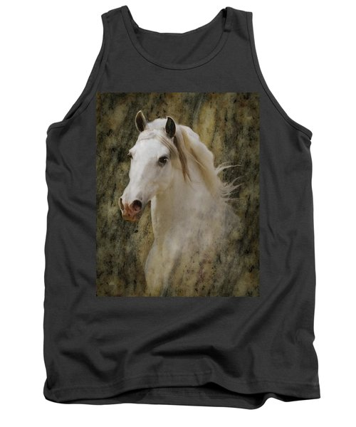 Portrait Of A Horse God Tank Top by Melinda Hughes-Berland