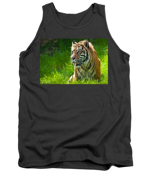Tank Top featuring the photograph Portrait Of A Sumatran Tiger by Jeff Goulden