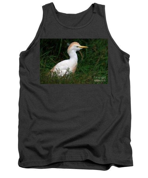 Portrait Of A White Egret Tank Top