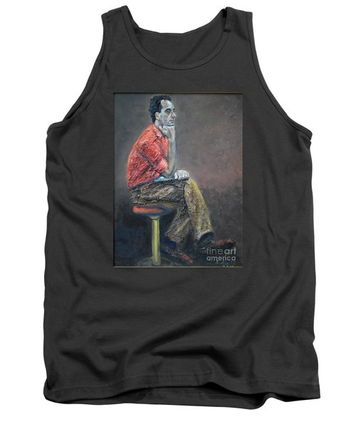 Portrait Of Ali Akrei - The Painter Tank Top