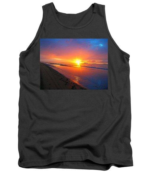Tank Top featuring the photograph Portrush Sunset by Tara Potts