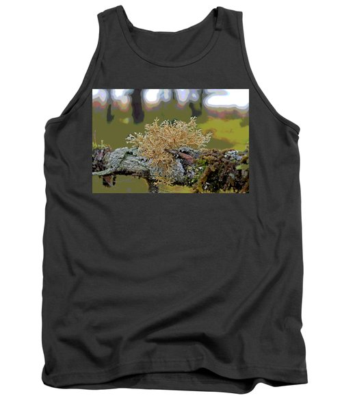 Posterized Antler Lichen Tank Top by Cathy Mahnke