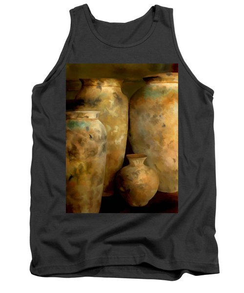 Tank Top featuring the painting Pots Of Time by Michael Pickett