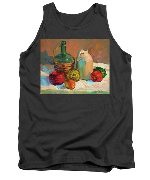Pottery And Vegetables Tank Top