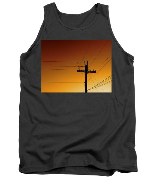 Power Line Sunset Tank Top by Don Spenner