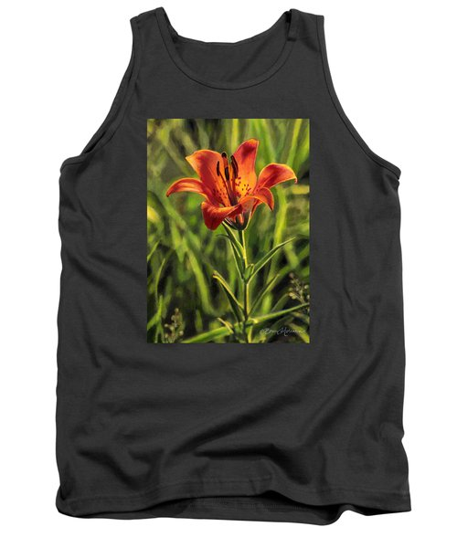 Prairie Lily Tank Top by Bruce Morrison