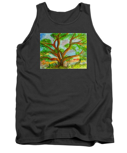 Prayer Mountain Tree Tank Top