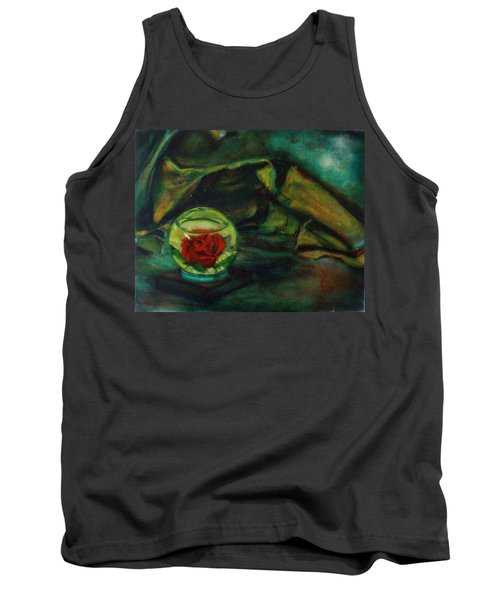 Preserved Rose . . Draped Canvas Tank Top