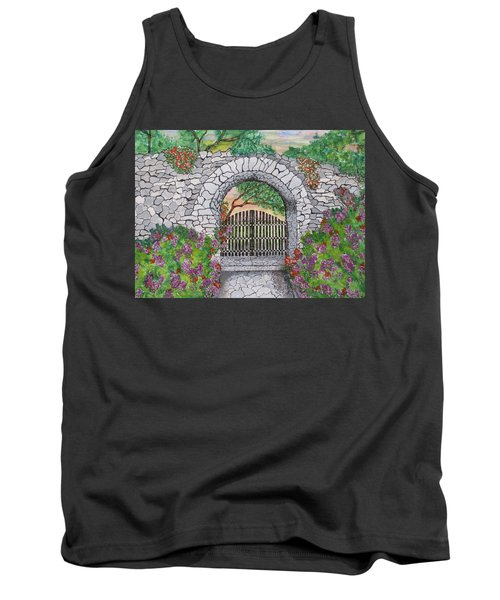Private Garden At Sunset Tank Top
