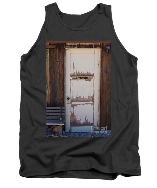 Tank Top featuring the photograph Private by Gunter Nezhoda